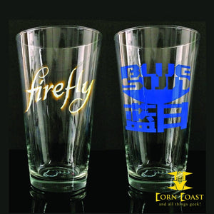FIREFLY PINT GLASS 2PC SET Glassware - Corn Coast Comics