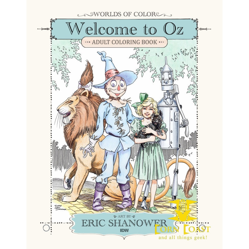 WORLDS OF COLOR WELCOME TO OZ ADULT COLORING BOOK TP