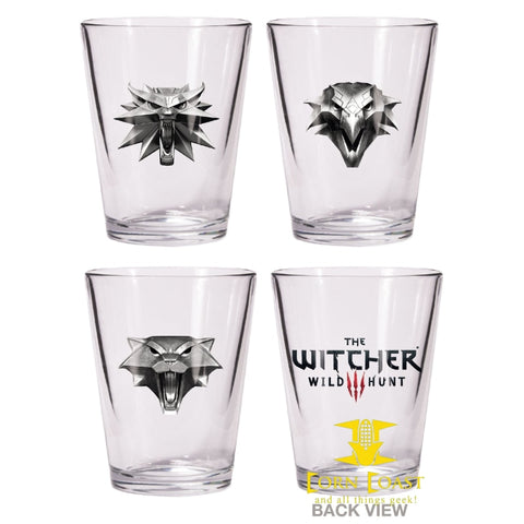 WITCHER  3 SHOT GLASS SET