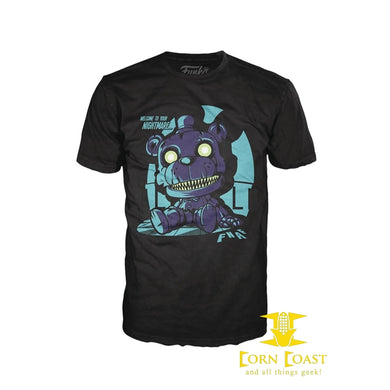 POP TEES NIGHTMARE FREDDY SITTING T/S M - Corn Coast Comics