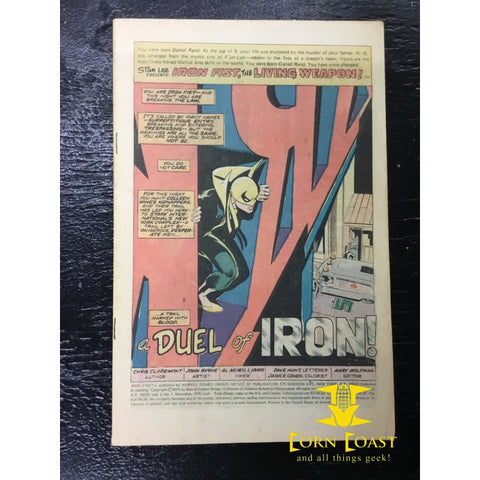 Iron Fist (1975 1st Series) #1 G No Cover