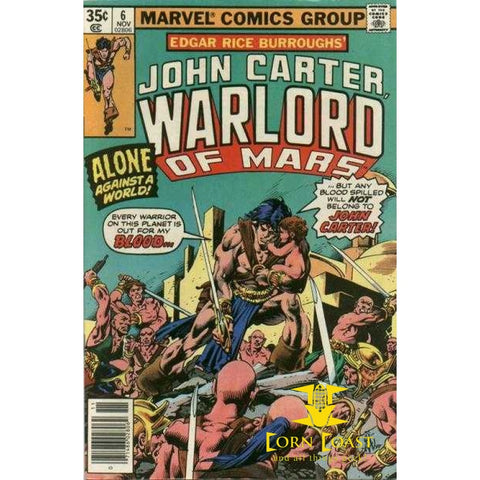 John Carter Warlord of Mars #6 VF - Back Issues