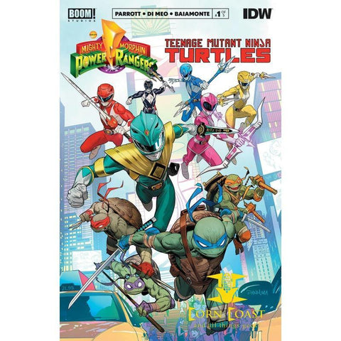 POWER RANGERS TEENAGE MUTANT NINJA TURTLES #1 CVR A MORA NM