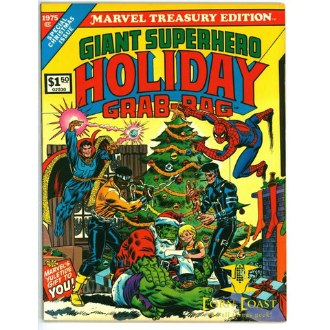 Marvel Treasury Special Giant Superhero Holiday Grab-Bag (1975) VF-NM - Corn Coast Comics
