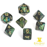 Chessex Scarab Jade/Gold 7-Die Set - Corn Coast Comics