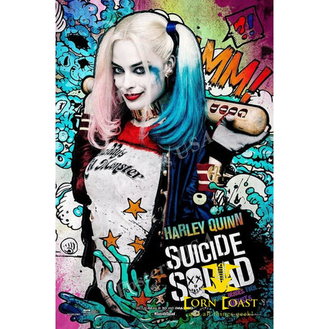 SUICIDE SQUAD Harley Quinn AMC Theaters MOVIE POSTER Card