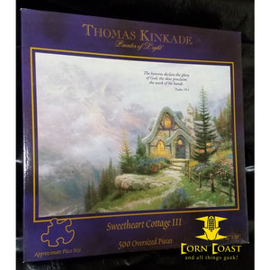 "Thomas Kinkade Painter of Light ""Sweet heart cottage III"" 500 Piece Puzzle"