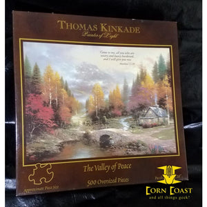 "Thomas Kinkade Painter of Light ""The valley of peace"" 500 Piece Puzzle"