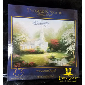 Thomas Kinkade Hometown Chapel 500 Oversized Pieces Puzzle NEW