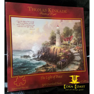 "Thomas Kinkade Painter of Light ""A light of peace"" 500 Piece Puzzle"