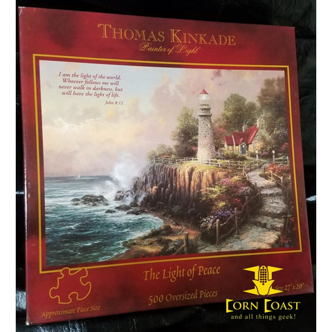 "Thomas Kinkade Painter of Light ""A light of peace"" 500 Piece Puzzle - Corn Coast Comics"