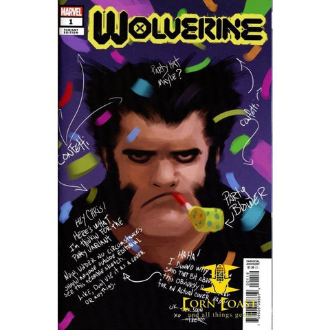 Wolverine Vol 7 #1 Cover N Incentive Rahzzah Party Sketch