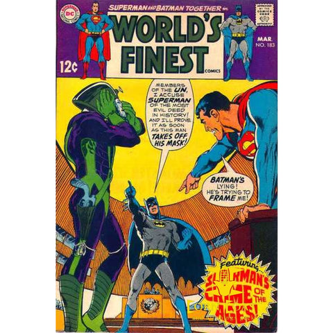 World's Finest Comics #183 VG - Back Issues