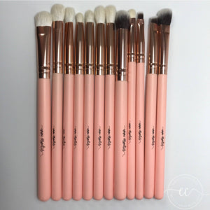 Makeup Brush Set - Rose Gold and Pink - Eye brushes