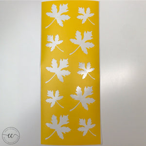 Maple Leaves - 10 Swatches - Makeup Stencil