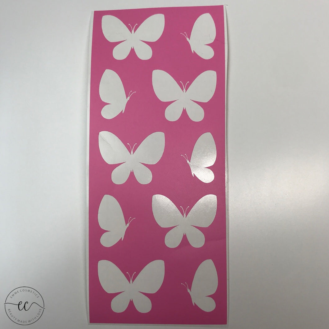 Butterflies - 10 Swatches - Makeup Stencil