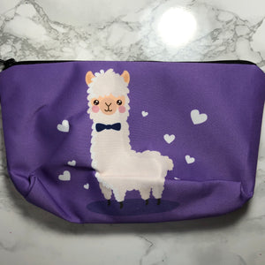 Purple - Bow Tie Llhama - Llhama Makeup Bag