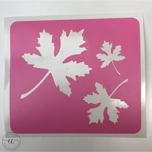 Maple Leaves - 03 Swatches - Makeup Stencil