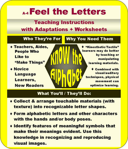 Know the Alphabet - Feel the Letters - American English - Free