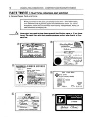 Examples of several kinds of personal-information forms Reading - Writing