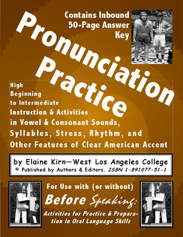 Pronunciation Practice for Clear American English  with Activities