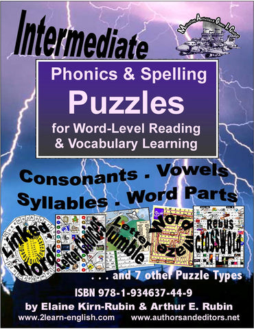 Spelling, Phonics, Reading Puzzles for better Pronunciation Intermediate