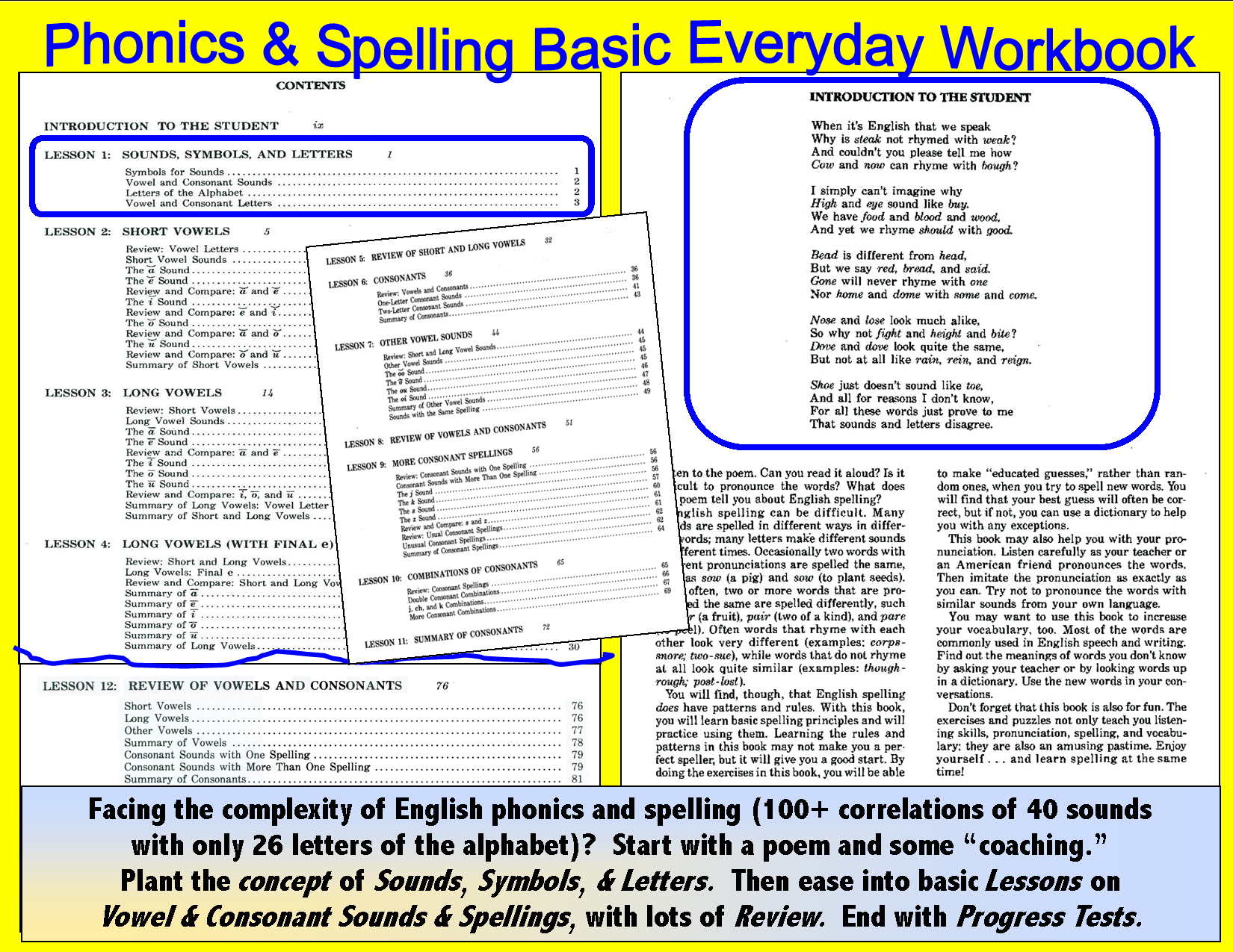 Spelling -Basic Workbook, two 90-Minute CDs or Download