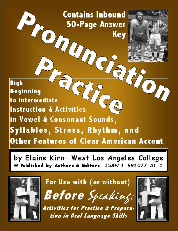 E. Before Speaking - A Pronunciation Practice Manual