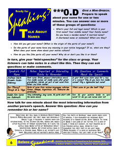 E-00.04 Demonstrate & Assess Oral-Language Skills Before Speaking