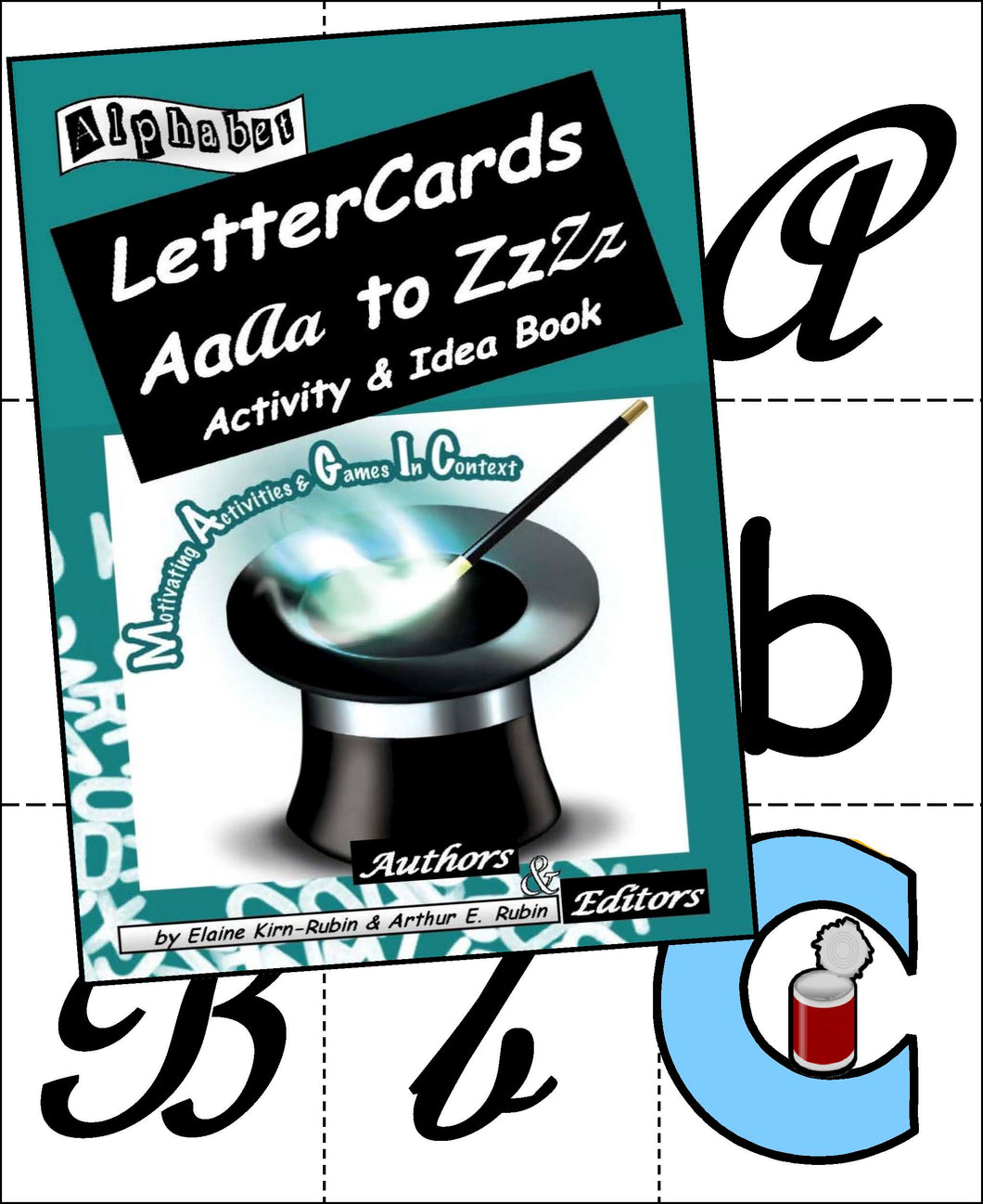 Alphabet Letter Cards Aa to Zz: Five 104-Card Packs + 24-Page Activities & Ideas Book