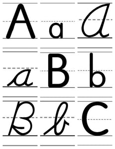 A-07.4: Use Alphabet-Letter Cards AaAa to ZzZz, Version 2, in Learning Activities & Games