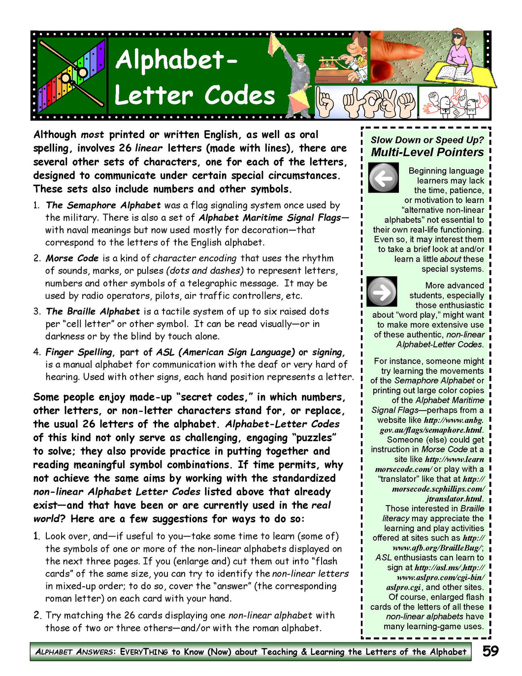 A-11: Use Alphabet-Letter Codes