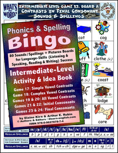Phonics Bingo <br/> Levels 1 to 4 = Basic, Beginning, <br/> Intermediate, Advanced + 4 Activities & Ideas Books