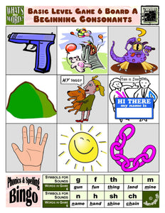 Phonics Bingo <br/> Level 1 = Basic + Activities & Ideas Book