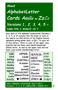 A-07.2: Learn Why & How to Use Alphabet-Letter Cards AaAa to ZzZz
