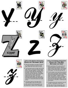 A-07.7: Use Alphabet-Letter Cards AaAa to ZzZz, Version 5, in Learning Activities & Games