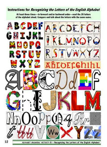 Alphabet Instructions for Teaching and Learning the Alphabet