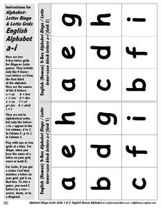 A-03.03: Alphabet Bingo & Lotto with 26 Upper- & Lower-Case Letters