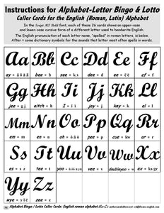 A-03.06: Play Alphabet Bingo & Lotto with Cursive Letters