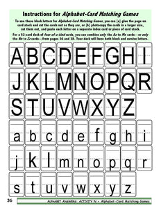 A-07.1: Make & Use Alphabet- Letter Card Packs