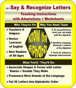 Say and Recognize Letters Info graphic and Directions