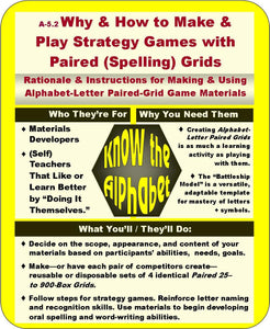 A-05.2: Learn Why & How to Make & Play Strategy Games with Paired (Spelling) Grids