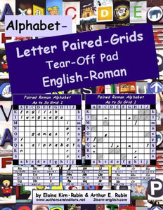 A-19: Alphabet Letters Paired Grids<br>English-Roman Strategy Board Games