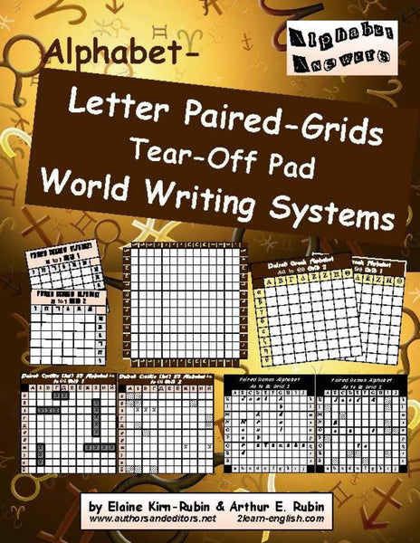 Alphabet Letters Paired Grids<br>World-Writing Systems Strategy Boards