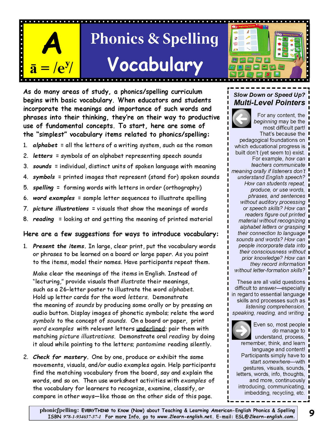B-1.0 Start with Phonics & Spelling Concepts