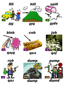 B-03.05 Get & Use Deck C of 52 Beginning Rhyming-Words Picture & Word Cards