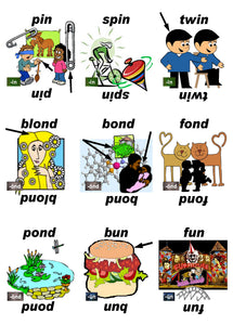 B-03.08 Get & Use Deck E of 52 Intermediate Rhyming-Words Picture Cards