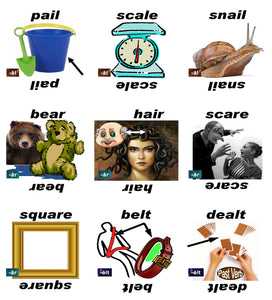 B-3.09 Get & Use Deck F of 52 Intermediate Rhyming-Words Picture Cards