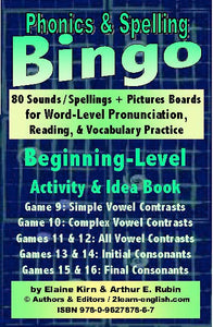 Phonics Bingo <br/> Level 2 = Beginning + Activities & Ideas Book