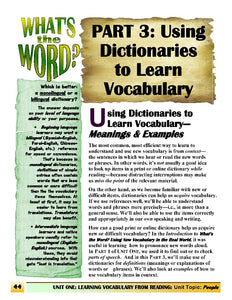 C-02.2 Get Vocabulary Information from Dictionaries